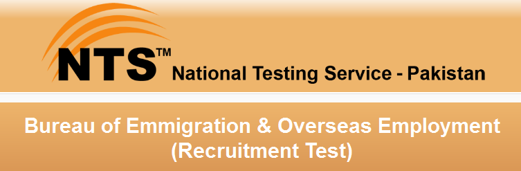 Bureau of Emigration & Overseas Employment Recruitment Test
