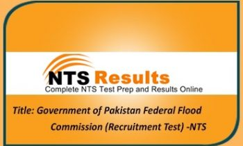 Government of Pakistan Federal Flood Commission NTS Jobs Application Forms 2021