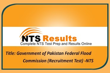 Government of Pakistan Federal Flood Commission NTS