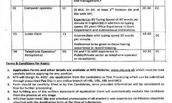 Khyber Pakhtunkhwa Pharmacy Council Jobs NTS Application Forms 2021